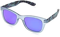 Police S1944 50715B Wayfarer Sunglasses, Transparent Aqua,Camouflage & Purple, 50 mm