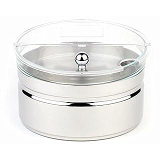 APS Kühlschale -Top Fresh- Maxi ca. Durchmesser 23cm, Höhe 14cm, 2,5 ltr 18/8 Edelstahl/Arcoroc kühlbar, 4-TLG. Set