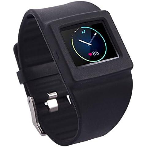 Greatfine Reloj de la Banda de Muñeca Reemplazo Pulsera Ajustable Correa para Fitbit Blaze (Black)