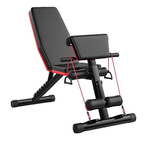 Banco de pesas plegable ejercicios entrenamiento Entrenador de espalda Estación de energía prensa...