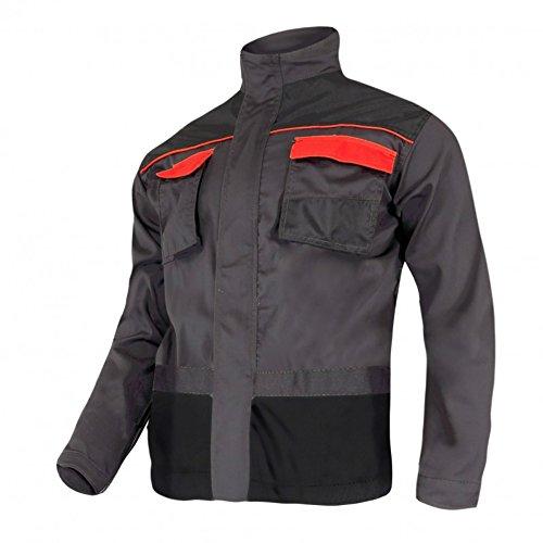KREXUS Herren Arbeitsjacke Grau mit Orange Gr. M EX10501M
