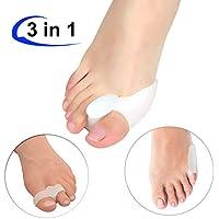 Preisvergleich für Gel Zehen Protectors Zehen Straightener Separatoren (3verschiedene Paare), weich und super bequem, Zehen Separatoren...