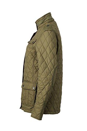 9a49575195aba1 James & Nicholson Damen Jacke Steppjacke Ladies Diamond Quilted Jacket  dark-olive ...