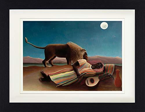 1art1 113551 Henri Rousseau - Die Schlafende Zigeunerin, 1897 Gerahmtes Poster Für Fans Und Sammler 40 x 30 cm -