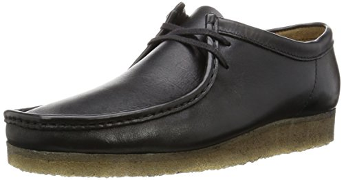 Clarks Originals Wallabee, Herren Brogue Schnürhalbschuhe, Schwarz (Black Leather), 38/39 EU (5 Herren UK)