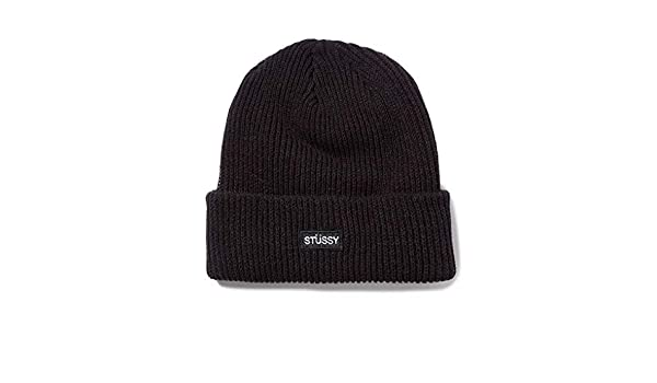 7231b02dae7 Stussy Small Patch Watchcap Beanie Hat Black  Amazon.co.uk  Clothing