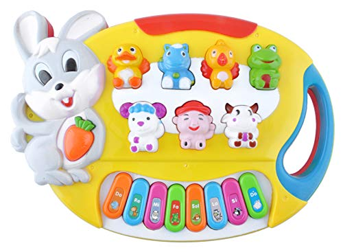 Iso Trade Klavier Bunt Babys Kinder Tiergeräusche Spiele Musik Melodie Lernen Spielzeug 2 Farben #6724 , Farbe:Gelb (Spiel Musik)