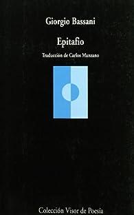 Epitafio par Giorgio Bassani