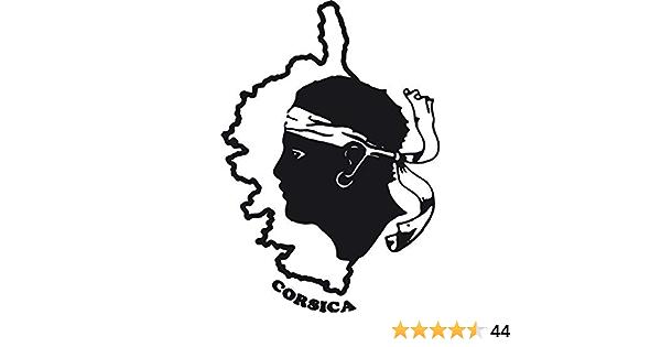 Aufkleber Für Auto Motorrad Korsika Ile De Beaute Corsica Kopf Maure Karte Vinyl Auto