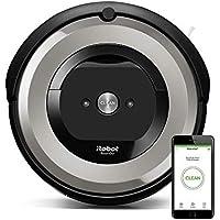 iRobot Roomba e5154 - Robot Aspirador para mascotas, con cepillos de goma, aspira pelos sin atascos en alfombras y suelos duros, succión X5
