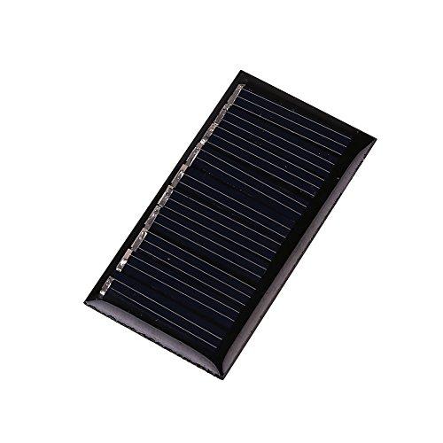 Especificaciones: Color: Negro  Material: Paneles solares de silicio policristalino  Voltaje de salida: DC5V  Potencia: 2W  Usos: Energía solar transformada en electricidad  Alcance: Universal  Tamaño del producto: 45 * 25MM  Características:  - Sili...