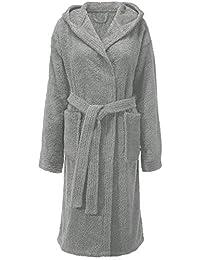 CelinaTex Fehmarn Damen Bademantel mit Kapuze Baumwolle Saunamantel Frottee Morgenmantel Größe XS - XL