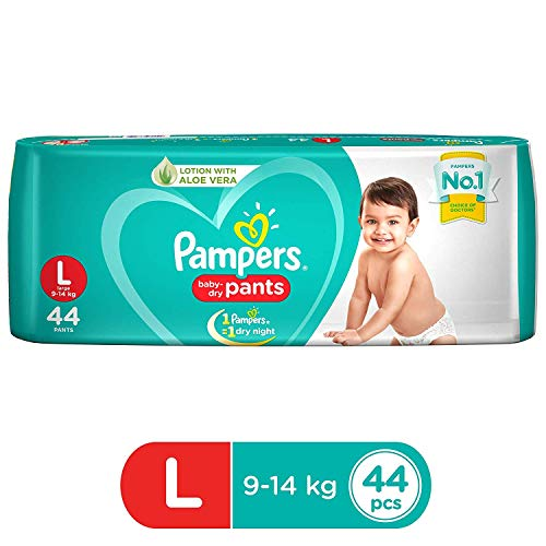 Pampers New Diapers Pants, Large (44 Count)