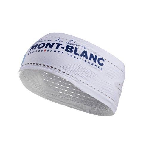 Compressport Cinta Headband On/Off - Mont Blanc 2017 Blanco