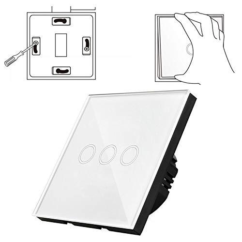 3-Wege-Fernbedienung Touch-Schalter Wandhalterung mit Fernbedienung EU Y603B (Farbe: weiß) -