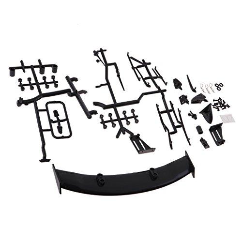 Baoblaze Spoiler Flügel / Rückspiegel / Scheibenwischer Kit für 1/10 RC Auto