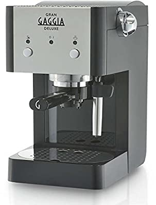 Gaggia RI8425/11 Gran Deluxe coffee maker - coffee makers (freestanding, Manual, Espresso machine, Ground coffee, Espresso, Coffee, Black, Silver)