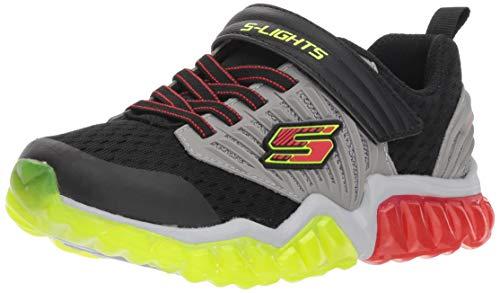 Skechers - S Lights - Rapid Flash - 90720L - Black Grey red, Schuhgröße:EUR 28