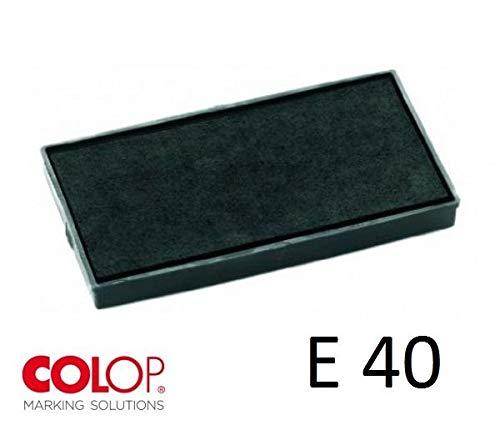 Tampone cuscinetto per timbro colop printer e40 nero pre inchiostrato