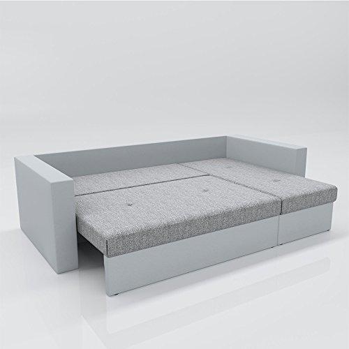 OSKAR Ecksofa mit Schlaffunktion und Bettkasten in L-Form