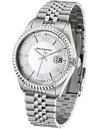 Philip Watch Caribbean Gent R8253107002 - Reloj analógico de cuarzo para hombre, correa de acero inoxidable color plateado