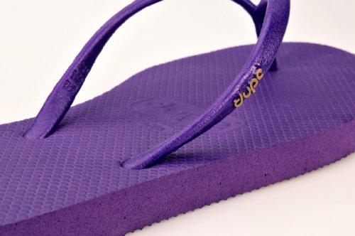 Dupé Charme in verschiedenen Farben, Dupe Zehentrenner. Slim line. SALE! Original Brasilien. Topqualität aus Gummi. Purple