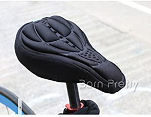 Generic New Cycling 3D Silicone Gel Pad Seat Saddle Cover Soft Cushion Bike # 16439(Black)