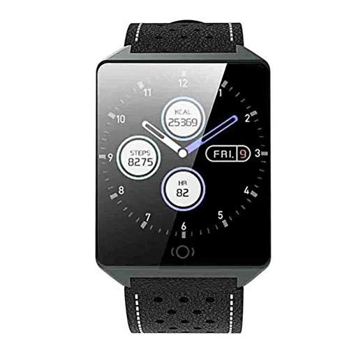 Donei Fitness-Tracker, Smart Watch, Farbbildschirm-Sport-wasserdichtes Schritt-Armband, praktische Multifunktionsuhr-Anzeige (Farbe : B)