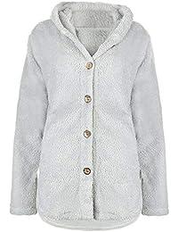 370f5e8376a7 Litterprince Women Winter Warm Fluffy Coat Overcoat Button Jacket Tops  Loose Outerwear