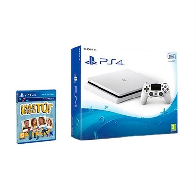 PlayStation 4 (PS4) - Consola De 500 GB, Color Blanco + Voucher ¡Has Sido Tú!