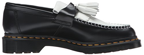Dr.Martens Womens Adrian Smooth Tassel Loafer Leather Shoes Black White