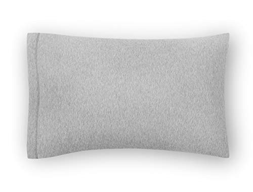 Calvin Klein Harrison Standard - Par de Fundas de Almohada, Gris Jaspeado, 75x50 cm, 2