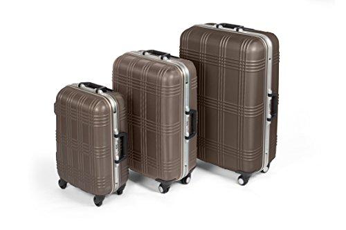 5341609dc MasterGear Juego de Maletas de Viaje – Set de Maletas Apilables con 4  ruedas Giratorias 360