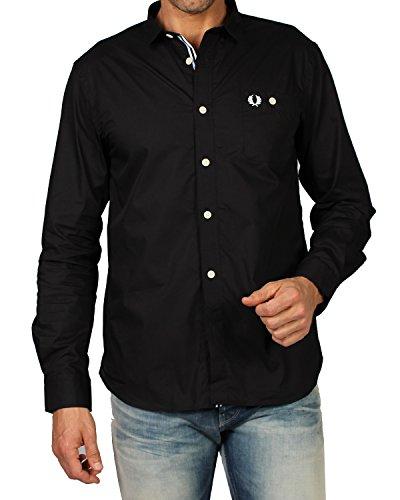 Fred perry - camicia da uomo m2325 - nero, m