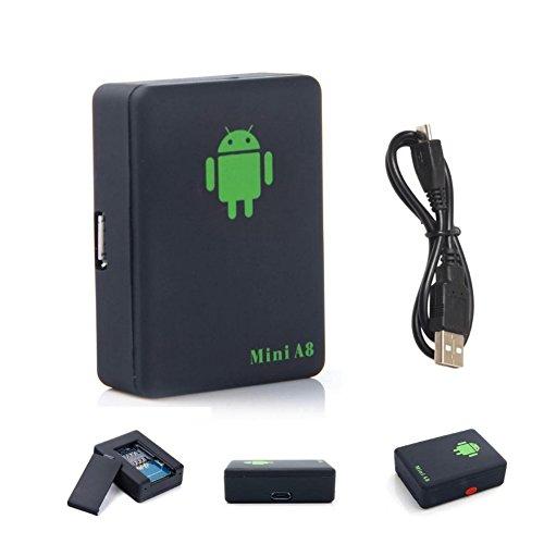 41tBuIYrJwL - qzt A8Mini Global GPS Localizador Multifuncional espía oído Bug Personal gsm Localizador Tracker Finder posicionamiento Audio Vigilancia SOS Seguridad para el hogar para niños/Mascota/Coche