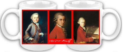 Smithfield Wolfgang Amadeus Mozart Signature Tribute Mug à café