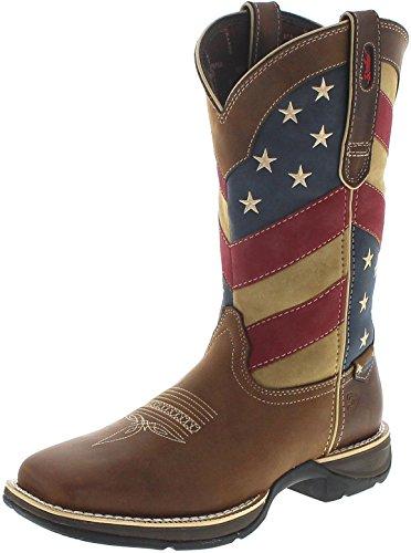 Durango Boots Herren Cowboy Stiefel DDB0124 Rebel Brown Patriotic Westernreitstiefel Braun 47 ()