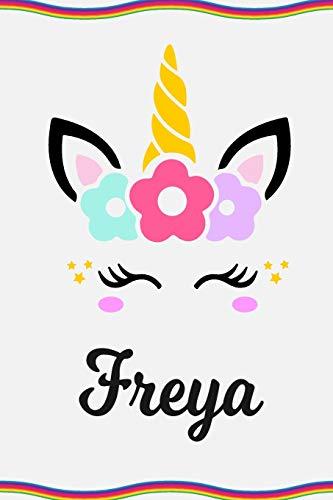 Freya: Personal Notebook | Personal Diary | Unicorn Notebook | Personalized Journal | Customized Journal | Unicorn Lover Gift | Personal Name Notebook - Freya Binden
