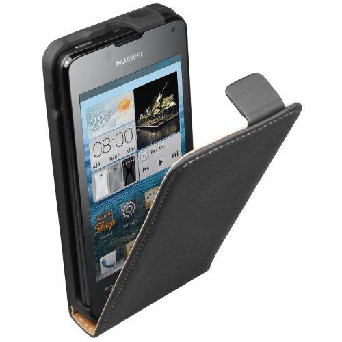 ultra-slim-schwarz-leder-tasche-hulle-huawei-ascend-y300-flip-case-cover-2-displayschutzfolie