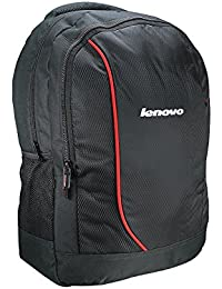 "Lenovo Polyester 16"" Black-Red Laptop Backpack"