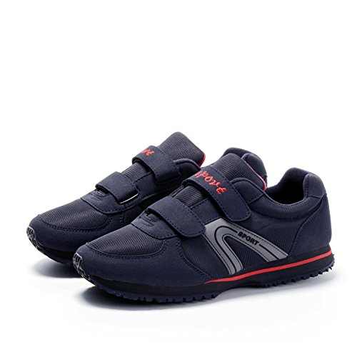 Chaussure fitness marche voyage antidérapage souple semelle basket mode sportif sneakers homme femme adulte mixte bleu foncé