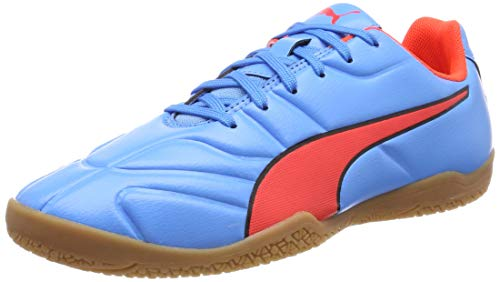Puma Unisex-Kinder Classico C II Sala Jr Multisport Indoor Schuhe, Blau (Bleu Azur-Red Blast Black), 36 EU