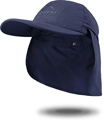 Sommer Cap 'Savannah' mit einrollbarem Nackenschutz Farbe Marine Größe XL