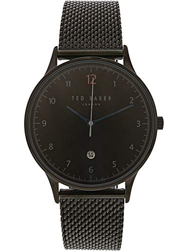 Ethan Black (Ted Baker Men's Ethan Quartz Watch with Stainless-Steel Strap, Black, 20 (Model: TE50519006)