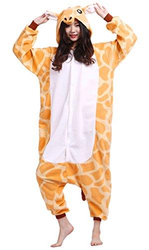 Unisexe Adulte Animal Cosplay Kigurumi Pyjama pour taille 140-187 cm - Girafe