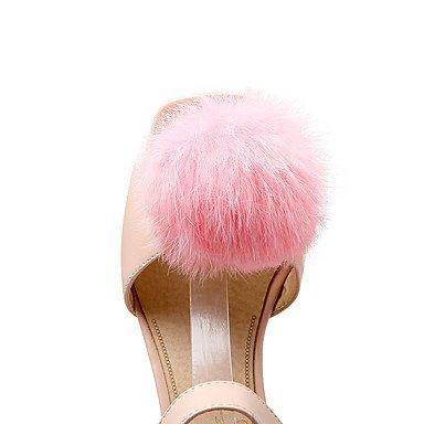 CH&TOU Da donna-Sandali-Formale Casual Serata e festa-Altro-Quadrato-PU (Poliuretano)-Rosa Bianco Pink