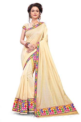 S. Kiran's Women's Khadi Cotton Chiku Brocket-Style Buti Chador Mekhela - Mekhla Chadar - Dn. Pnt 9