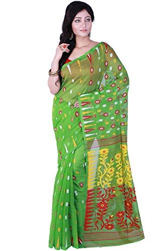 T.J. Sarees Premium Quality Reshom Dhakai Jamdani Sarees
