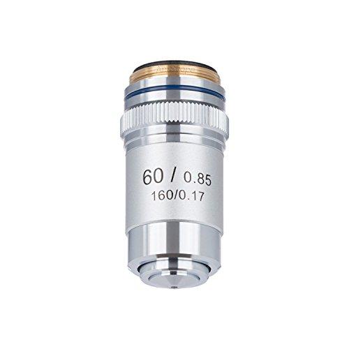 Amscope A60X-V300 60X 60-fach Vergrößerung Achromatisch Objektiv für Mikroskope Objektiv-Aufsatz DIN Standard Gewindedurchmesser: 20mm