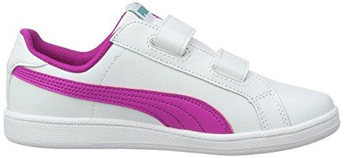 Puma Smash Fun L V Ps, Sneakers Basses Mixte Enfant Blanc (Puma White-ultra Magenta 11)